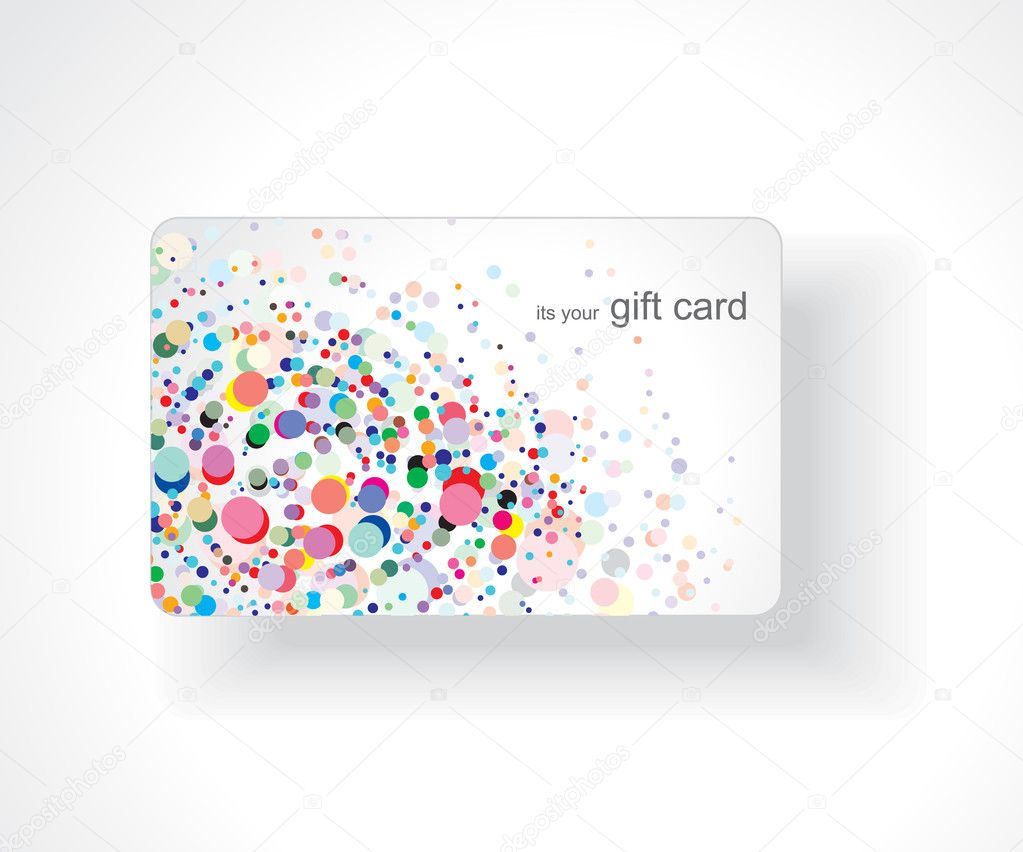 Beautiful gift card, vector illustration.  Vettoriali Stock  #3441134