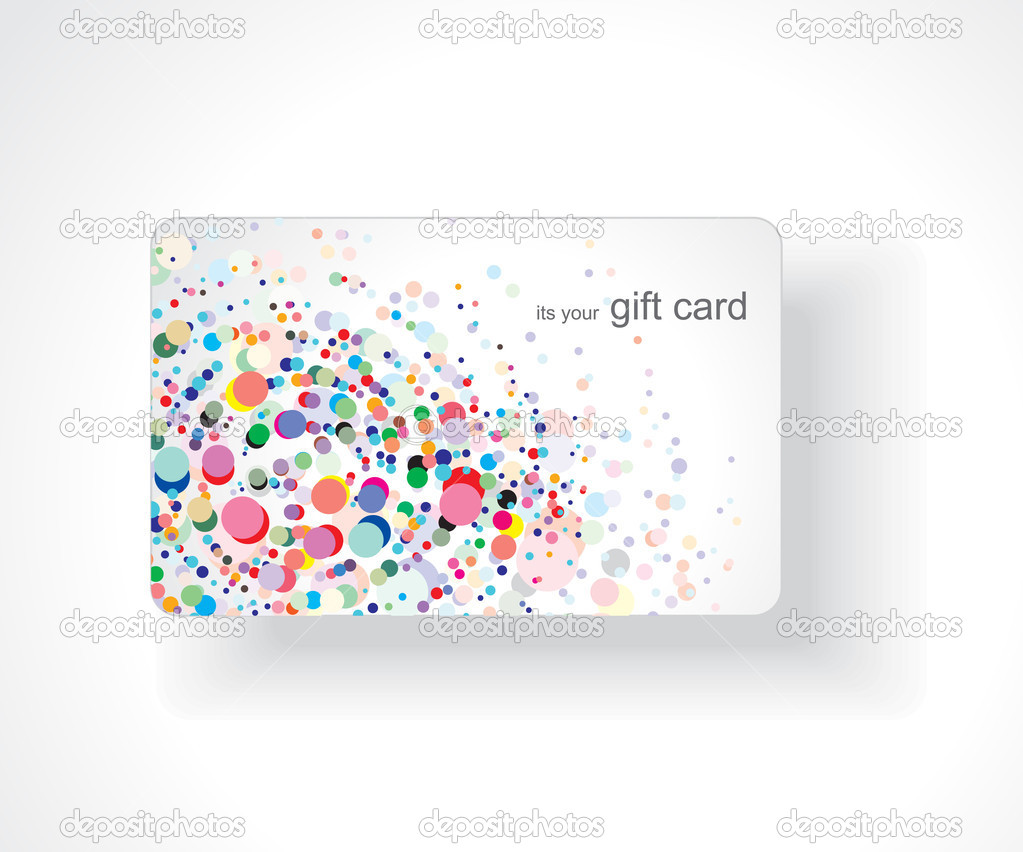 Beautiful gift card, vector illustration. — ベクター素材ストック #3441134