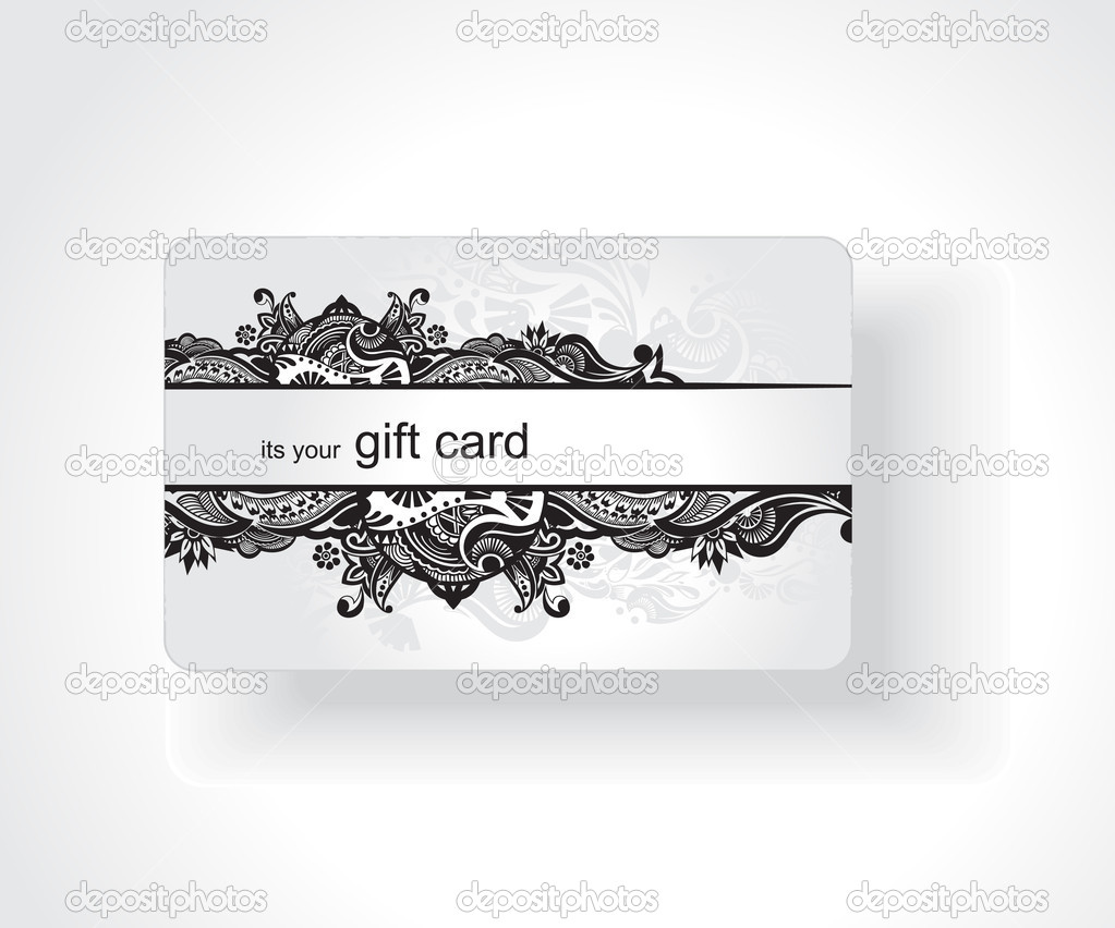 Beautiful gift card, vector illustration. — Imagens vectoriais em stock #3441139