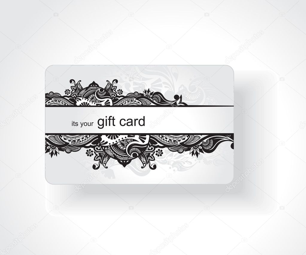 Beautiful gift card, vector illustration. — Stok Vektör #3441139