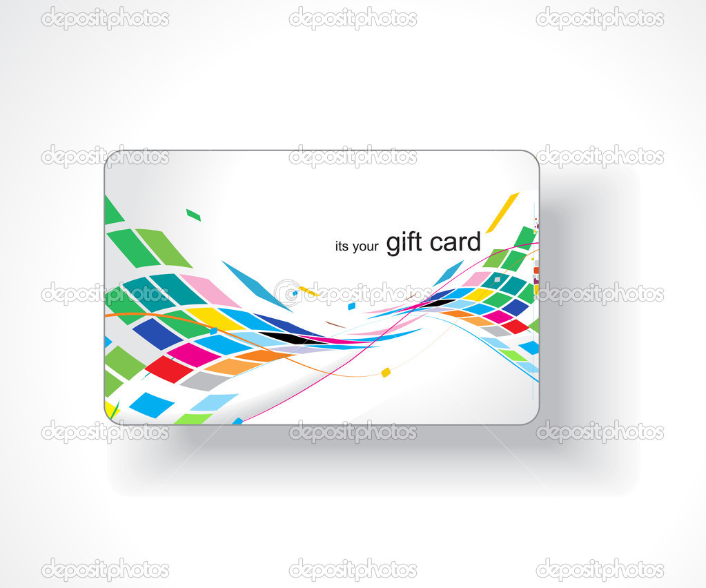 Beautiful gift card, vector illustration.  — Stock Vector #3441654