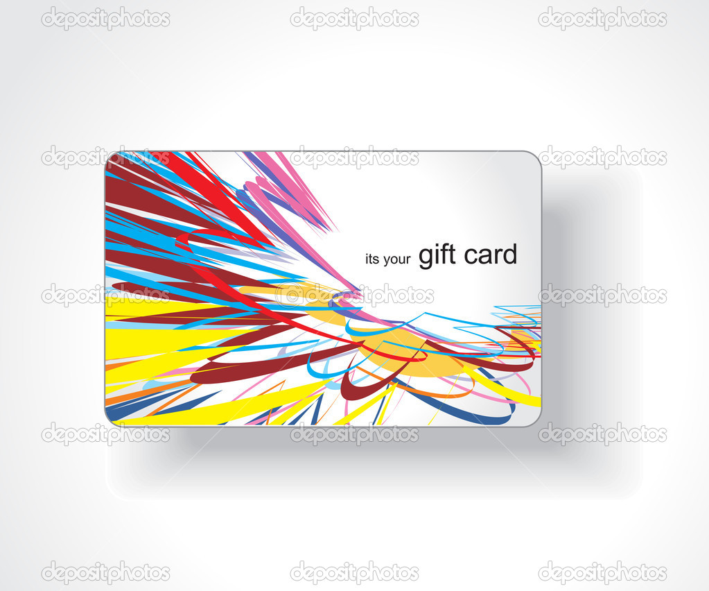 Beautiful gift card, vector illustration.  — Stock Vector #3441977