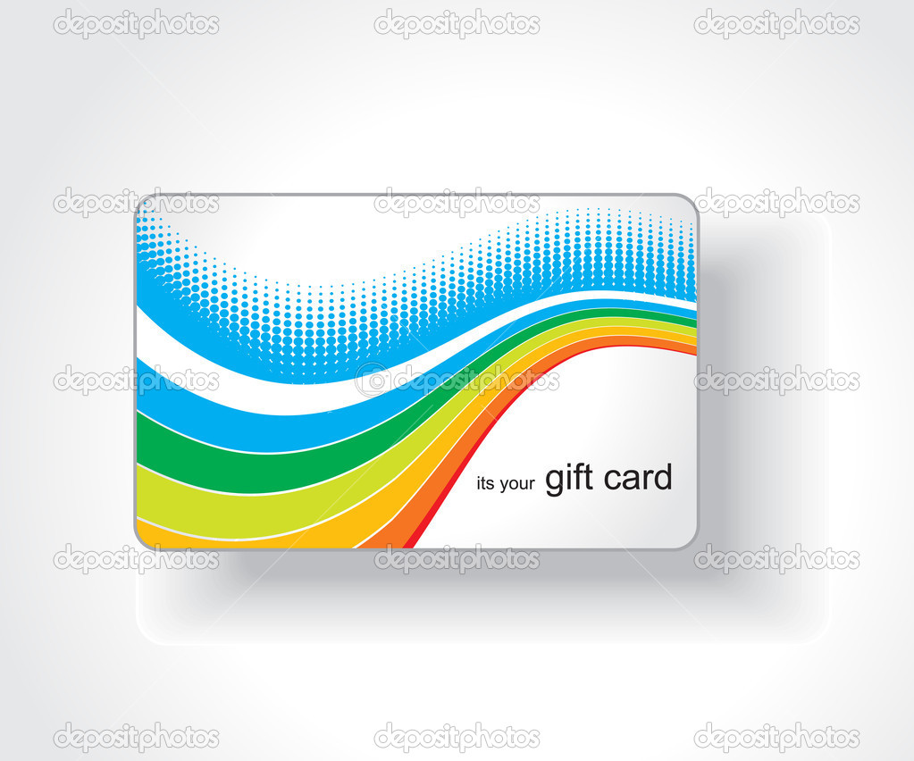 Beautiful gift card, vector illustration.  — Stock Vector #3447538