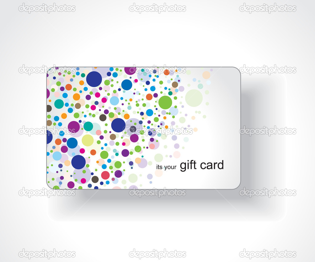 Beautiful gift card, vector illustration.   Vektorgrafik #3447595