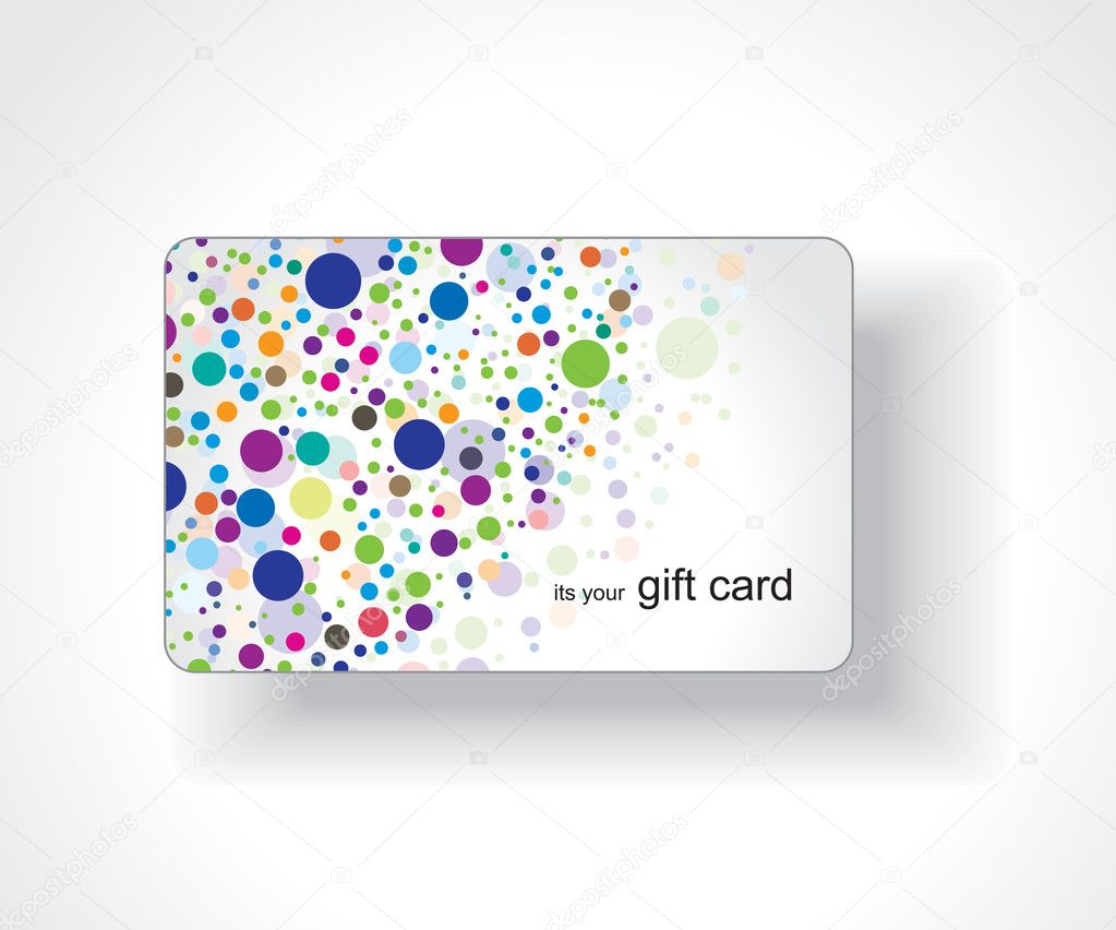 Beautiful gift card, vector illustration.  — ベクター素材ストック #3447595