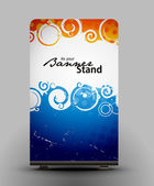 Stand banner template — Cтоковый вектор