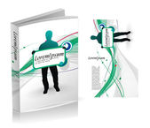Book cover design — Stock Vector
