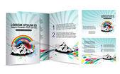 Shoe brochure design — Stock Vector