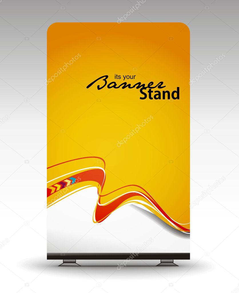 Stand banner template — Stock Vector © redshinestudio #3728514