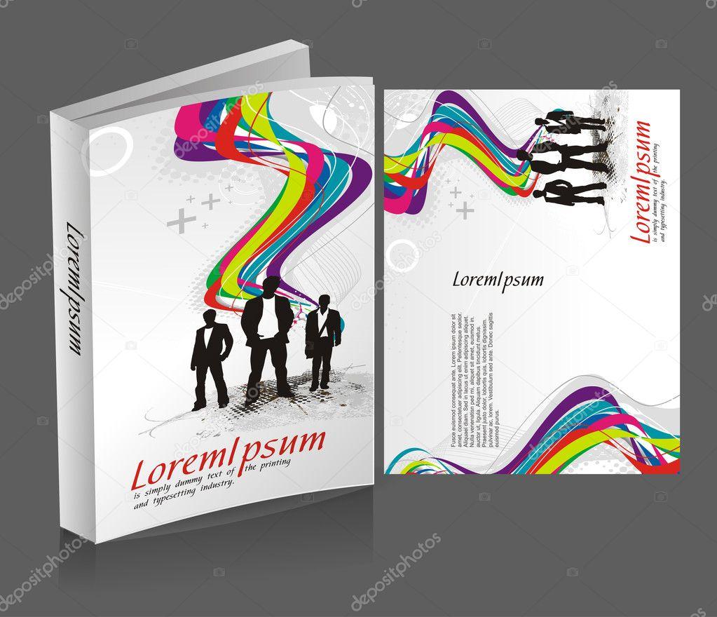 Book Cover Design Gallery : Book cover design — stock vector redshinestudio