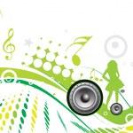 Musical theme — Stock Vector #4120628