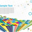 Abstract 3d mosaic background — Stock Vector