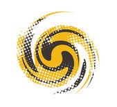 Spirals halftone — Stock Vector