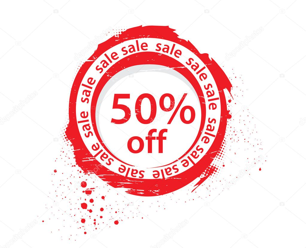50 % off sale tags, vector illustration — Stock Vector #4121473