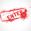 Stock Vector: Do not Enter Grunge Text