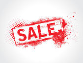 Försäljning grunge text — Stockvektor