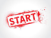 Start grunge text — Stock Vector