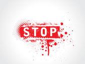 Stop grunge text — Stock Vector