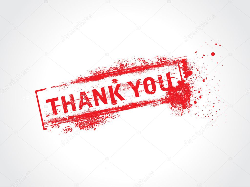 Thank you - grunge text vector  Stock Vector #4137048