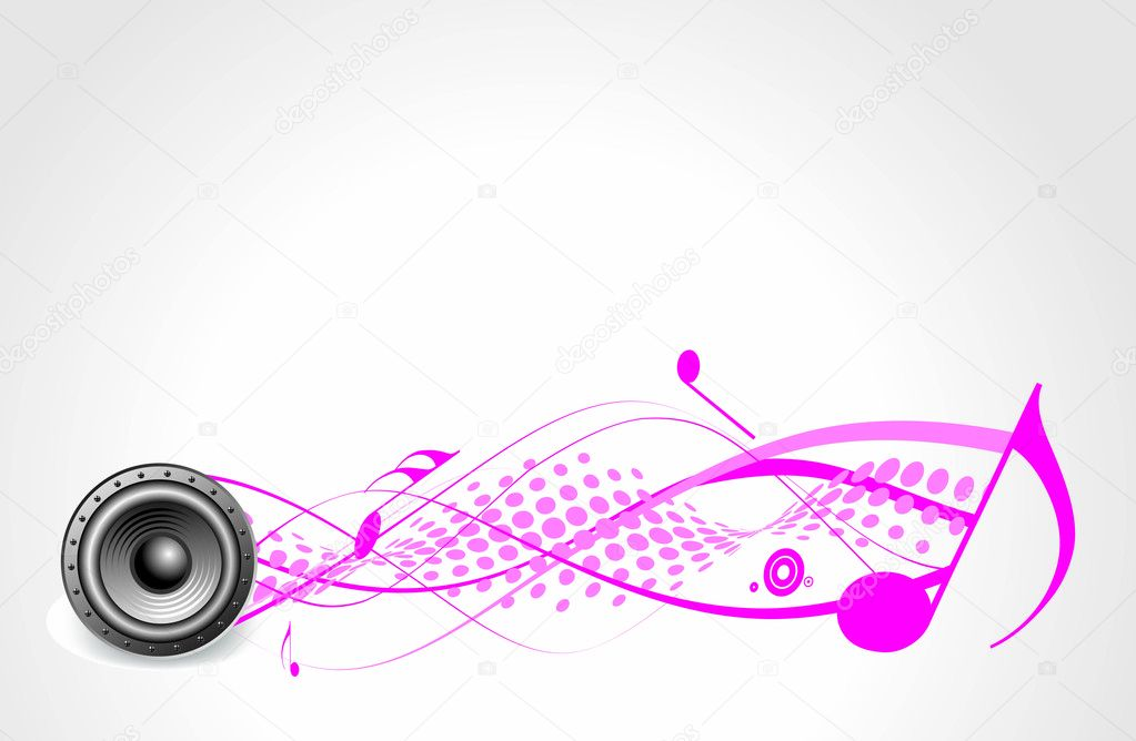 Music theme with speaker — Stock Vector #4137060