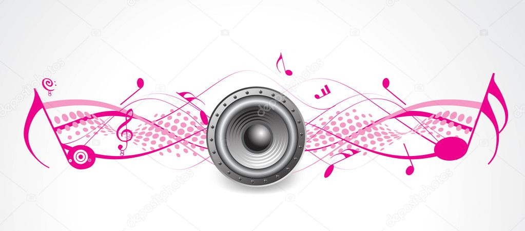 Music theme halftone with loudspeaker — Stock Vector #4137061