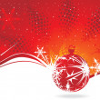 Abstract christmas tree on red background. - Image vectorielle