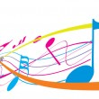 Vector de stock : Music theme