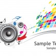 Stock Vector: Sample text with Music theme