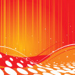 Abstract wave halftone background - Stock vektor