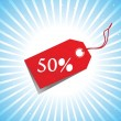 Vector - sale tag with discount and background — 图库矢量图片
