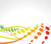 Multicolor wave halftone background — Stock Vector