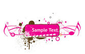 Sample text with Music theme — Stock Vector