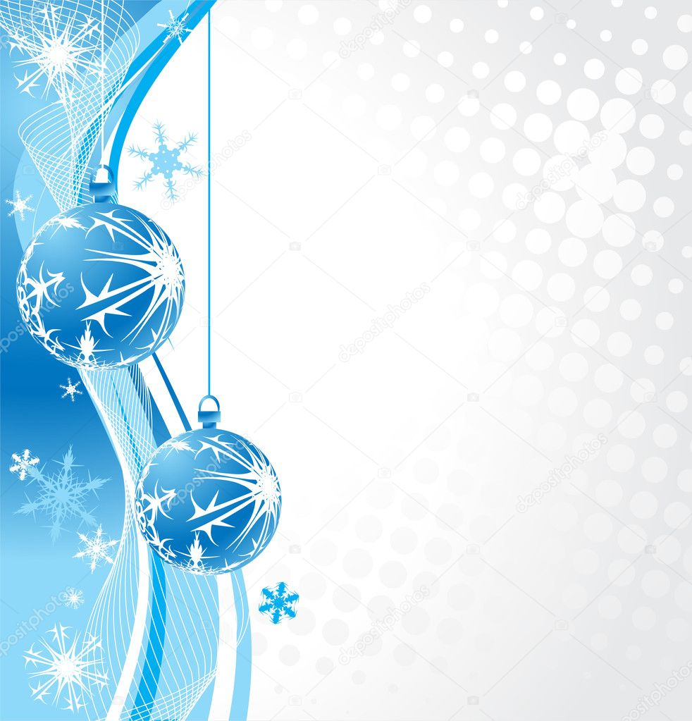 Abstract Christmas wave halftone background with snowflakes. Vector Illustration.  Stock Vector #4155339