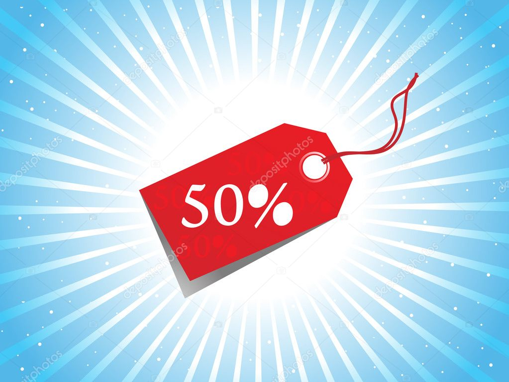 A Vector - sale tag with discount and background  Stock Vector #4159002