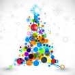 Christmas colorful design — Imagen vectorial