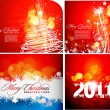 Christmas colorful design — Stockvectorbeeld