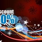 Discount card design — Stock Vector