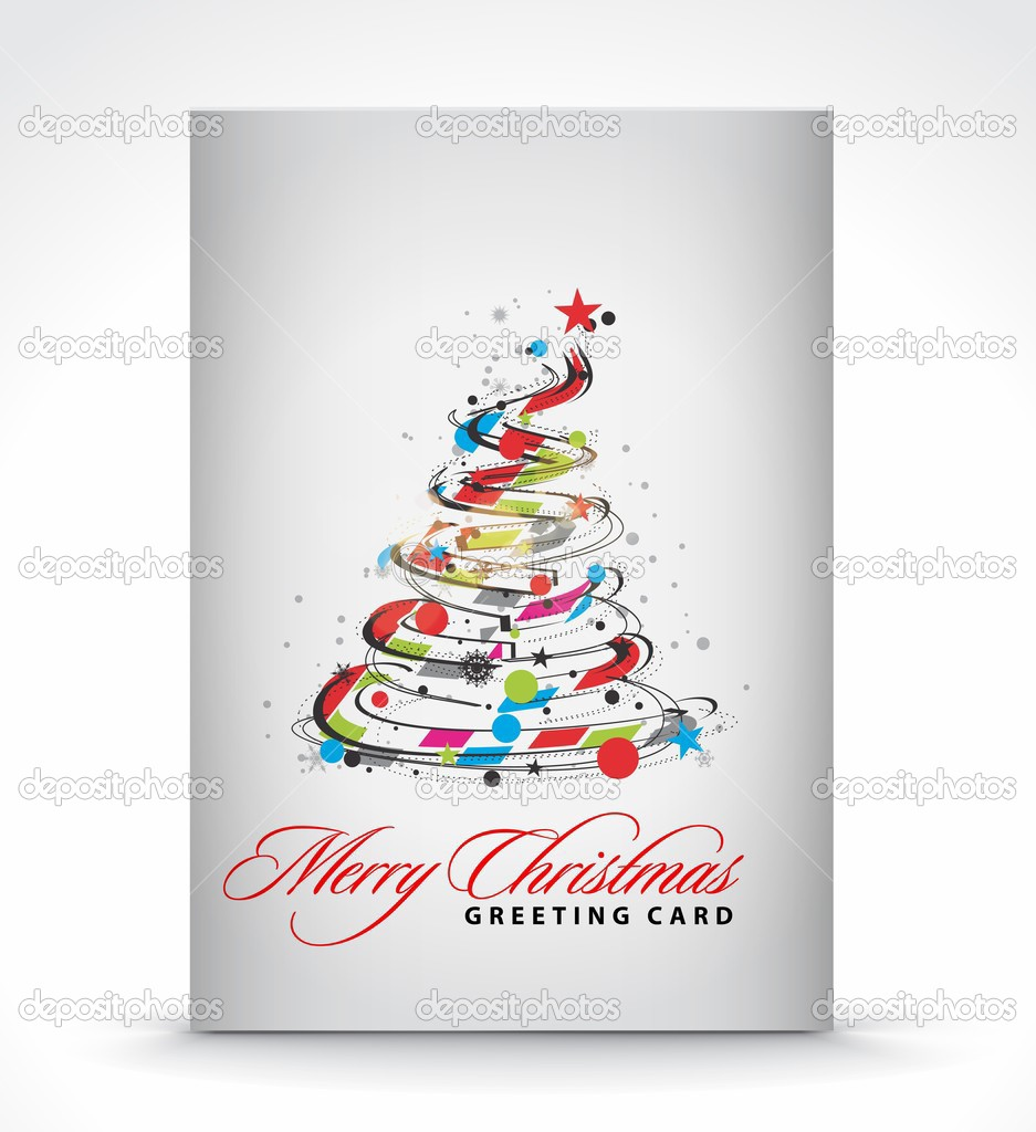 Christmas greeting card with presentation design.  Stock Vector #4327178