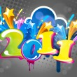New year abstract 2011 with colorful design. Vector illustration — Stock Vector #4401507