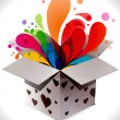 Gift box abstract illustration full of colors,vector illustratio — Stock vektor