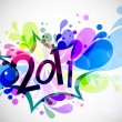 Royalty-Free Stock Vector Image: Beautiful vector illustration of chritsmas and new year of 2011