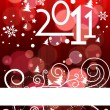 2011 card beautiful vector illustration of chritsmas and new yea - Stock Vector
