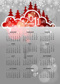 Abstract new year 2011 calendar with colorful design. Vector ill — Stock Vector