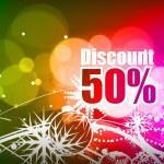 Discount banner — Stock Vector