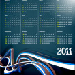 2011 calendar — Stock Vector #4448560