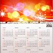 2011 calendar - Stock Vector