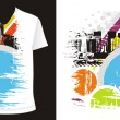 T-shirt design — Stock Vector #4462107