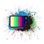 Retro television — Stock Vector