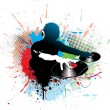 Royalty-Free Stock Imagen vectorial: Dj man playing tunes