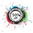 50% discount banner — Stock Vector